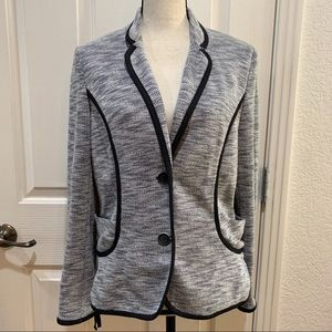 Anthropologie Cartonnier Fitted Knit Blazer Large